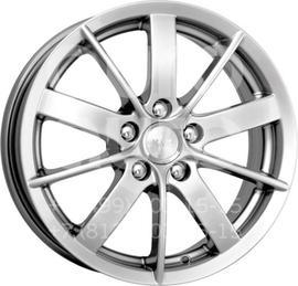 Колесный диск КиК Питер AL блэк платинум  6x15 5x105 DIA56.6  ET39 литой
