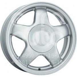 Колесный диск КиК 5 спиц сильвер  5.5x14 4x98 DIA58.6  ET35 литой