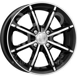 Колесный диск КиК Sportline алмаз черный  6x14 4x100 DIA67.1  ET30 литой