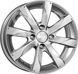 Колесный диск КиК Джемини блэк платинум  5.5x14 4x100 DIA60.1  ET43 литой