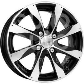 Колесный диск КиК Джемини алмаз черный  5.5x14 4x98 DIA58.5  ET40 литой