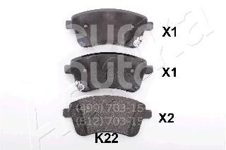 Купить Колодки тормозные передние к-кт Kia Venga 2010-; (50-0K-K22)
