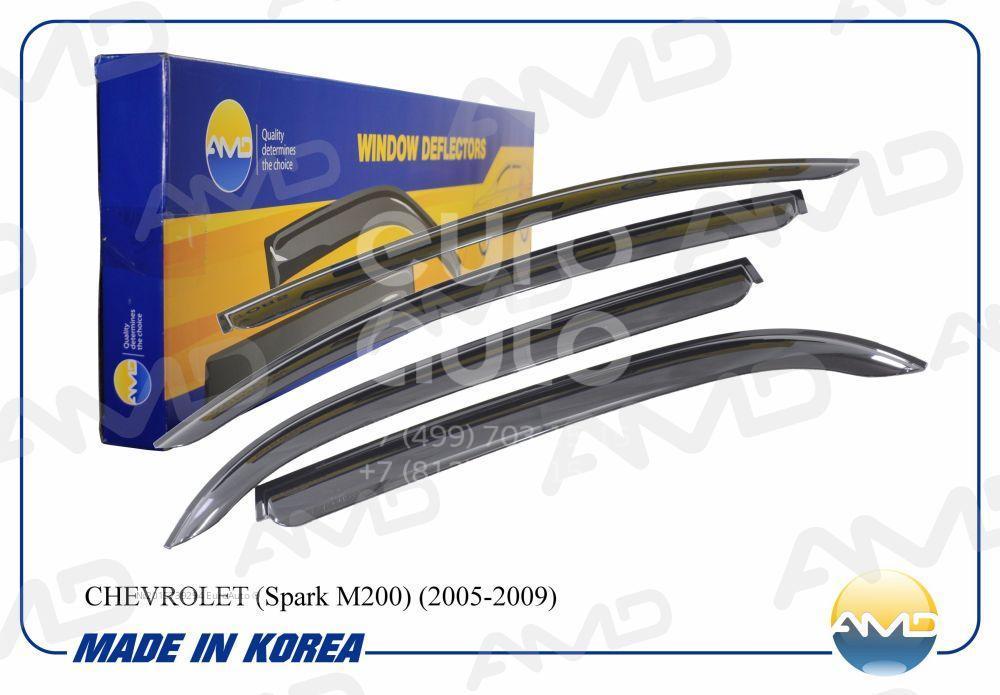 К-кт ветровиков (дефлекторы) бокового стекла для Chevrolet Spark 2005-2011 - Фото №1