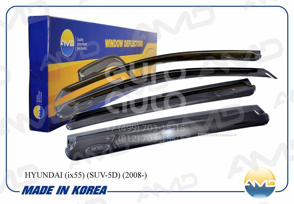К-кт ветровиков (дефлекторы) бокового стекла для Hyundai ix55 2007-2013 - Фото №1