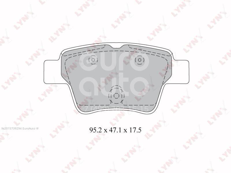 Купить Колодки тормозные задние дисковые к-кт Citroen C4 2005-2011; (BD-2211)
