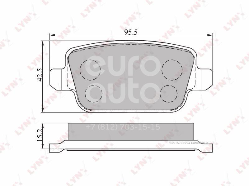 Купить Колодки тормозные задние дисковые к-кт Citroen C4 2005-2011; (BD-3005)