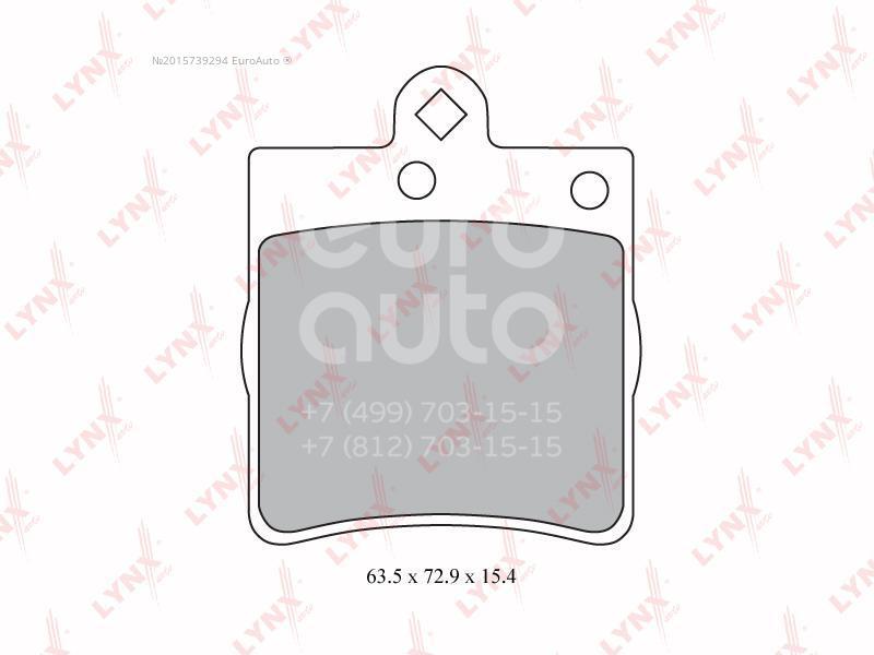 Колодки тормозные задние дисковые к-кт для Mercedes Benz W203 2000-2006 - Фото №1