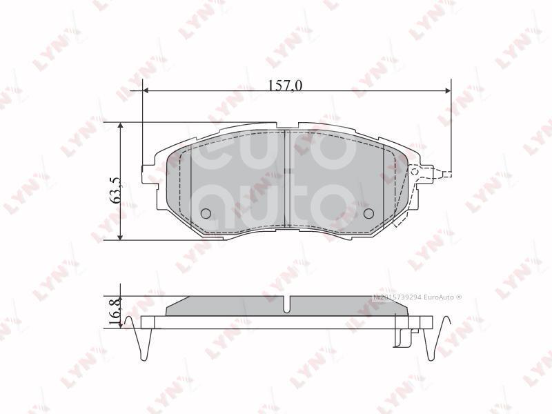 Купить Колодки тормозные передние к-кт Subaru Legacy (B13) 2003-2009; (BD-7111)