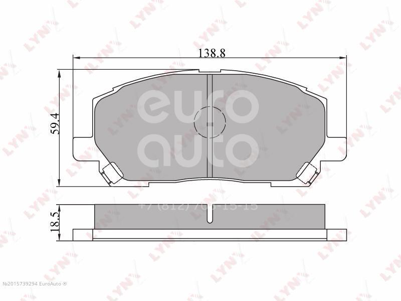 Купить Колодки тормозные передние к-кт Lexus RX 300 1998-2003; (BD-7506)