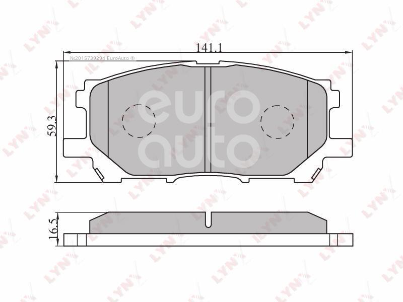 Колодки тормозные передние к-кт Lexus RX 300/330/350/400h 2003-2009; (BD-7525)  - купить со скидкой
