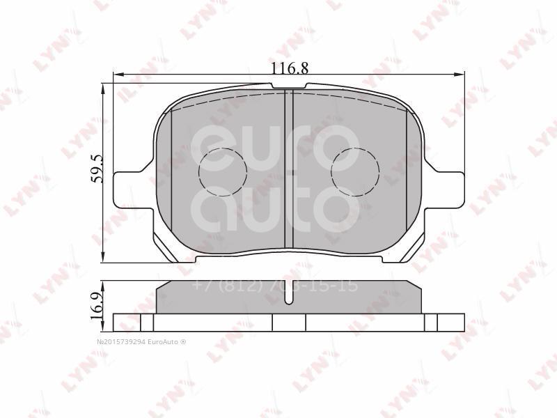Купить Колодки тормозные передние к-кт Lexus RX 300 1998-2003; (BD-7529)