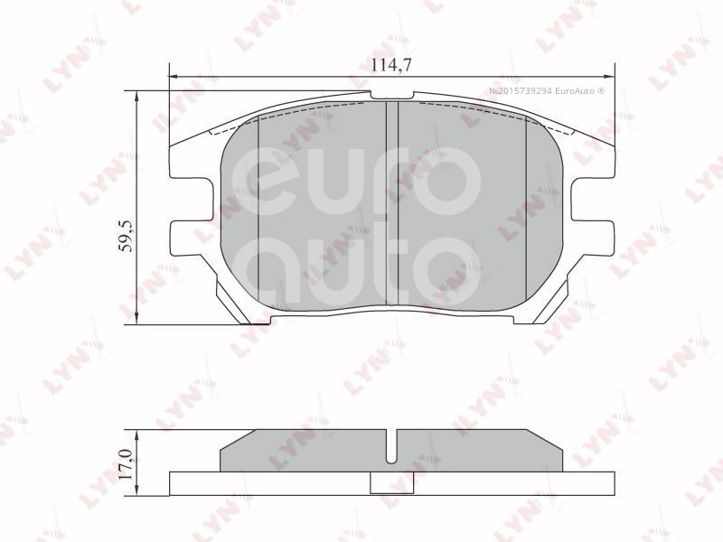 Купить Колодки тормозные передние к-кт Lexus RX 300 1998-2003; (BD-7573)