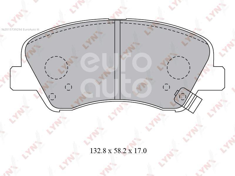 Купить Колодки тормозные передние к-кт Kia RIO 2017-; (BD-3619)