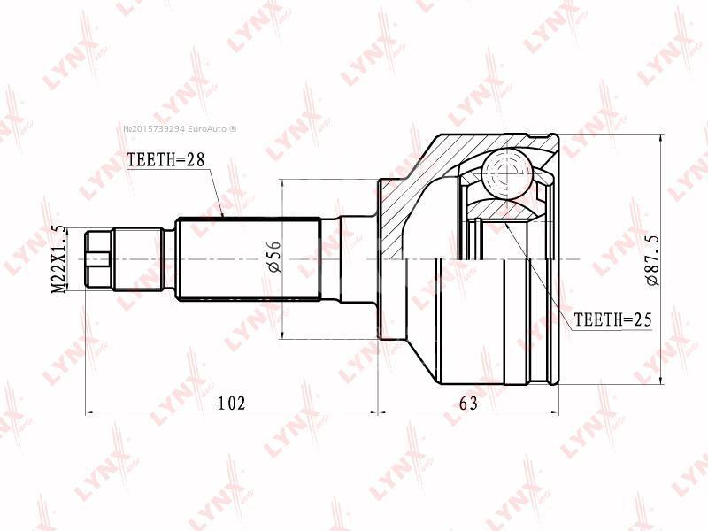 Купить ШРУС наружный передний Kia Sorento 2002-2009; (CO-4408)