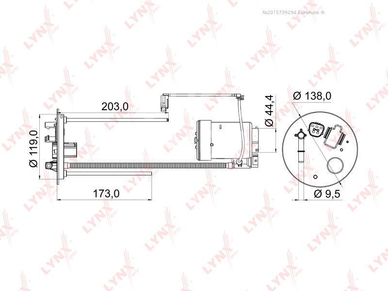 Купить Фильтр топливный Mitsubishi Outlander XL (CW) 2006-2012; (LF-968M)
