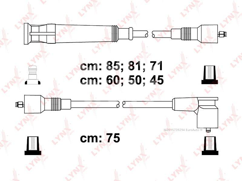 Провода высокого напряж. к-кт для BMW 7-серия E32 1986-1994 - Фото №1