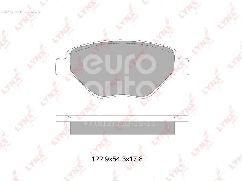 Купить Колодки тормозные передние к-кт Renault Megane II 2003-2009; (BD-6321)