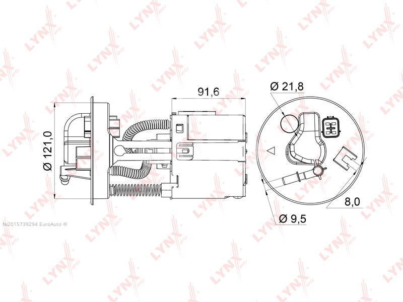 Купить Фильтр топливный Mazda Mazda 6 (GG) 2002-2007; (LF-966M)