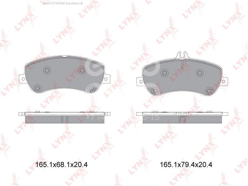 Колодки тормозные передние к-кт для Mercedes Benz GLK-Class X204 2008-2015 - Фото №1