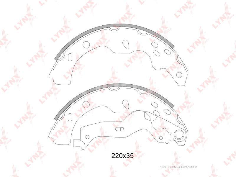 Колодки барабанные к-кт для Fiat Sedici 2008> - Фото №1