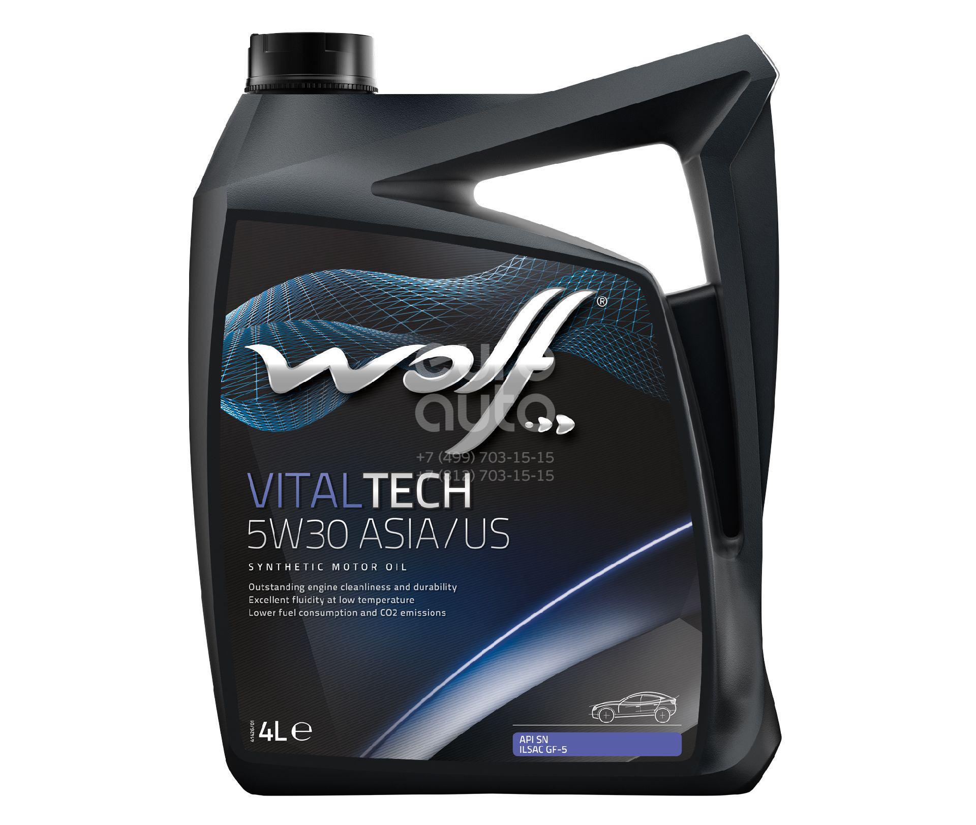 Масло моторное WOLF VITALTECH 5W30 ASIA/US 4L СИНТЕТИКА - Фото №1