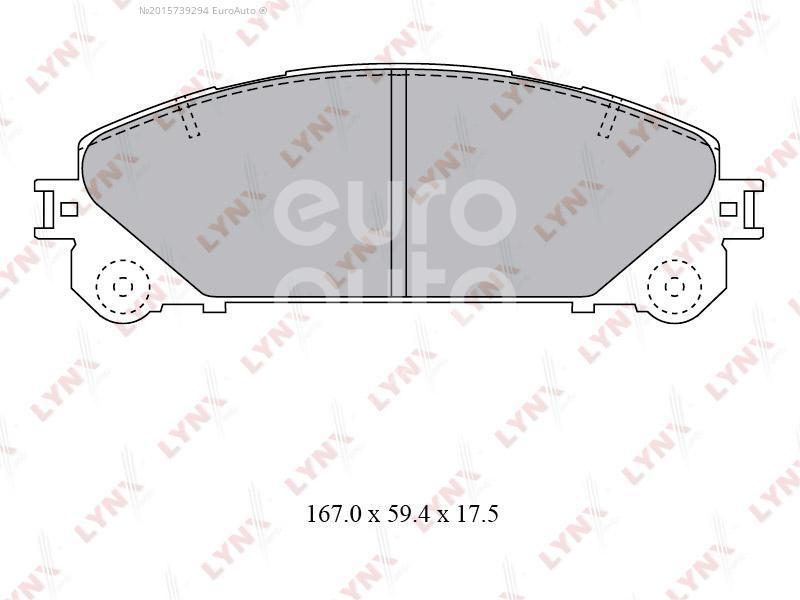 Купить Колодки тормозные передние к-кт Lexus RX 350/450H 2009-2015; (BD-7596)