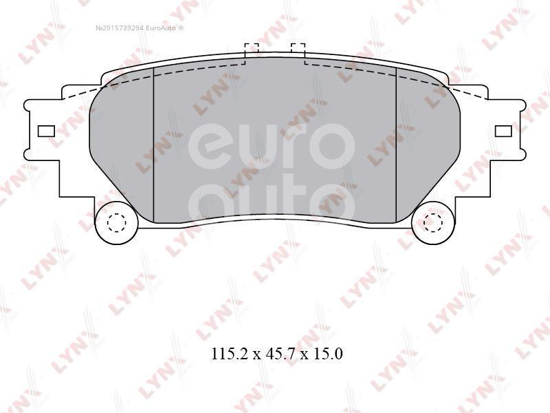 Купить Колодки тормозные задние дисковые к-кт Lexus RX 300/330/350/400h 2003-2009; (BD-7597)