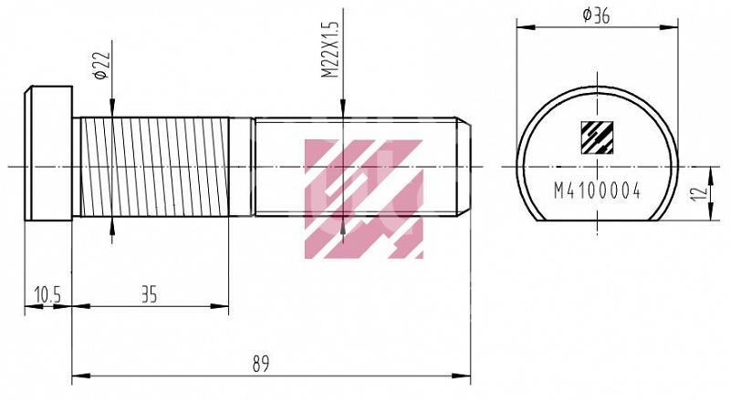 Шпилька колеса для BPW ECO >1996 - Фото №1