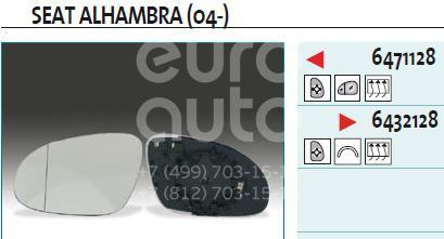 Купить Стекло зеркала электрического правого VW Sharan 2000-2004; (6432128)