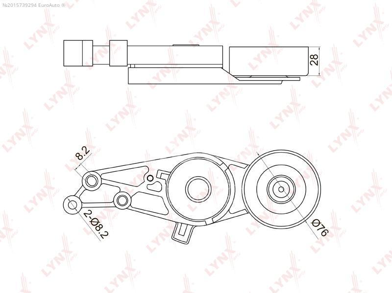 Купить Ролик-натяжитель ручейкового ремня Audi A6 [C6, 4F] 2004-2011; (PT-3001)