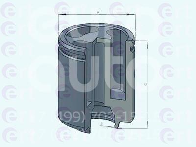 Поршень заднего суппорта для Iveco Daily III 1999-2006 - Фото №1