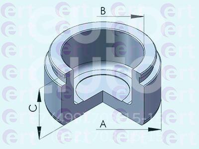 Купить Поршень переднего суппорта Toyota Land Cruiser (100) 1998-2007; (151151-C)