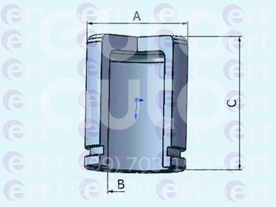 Поршень заднего суппорта для Hyundai XG 1998-2005 - Фото №1