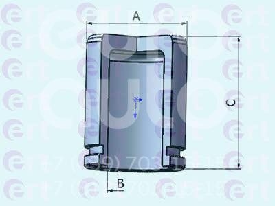 Купить Поршень переднего суппорта Ford Mondeo III 2000-2007; (150966-C)