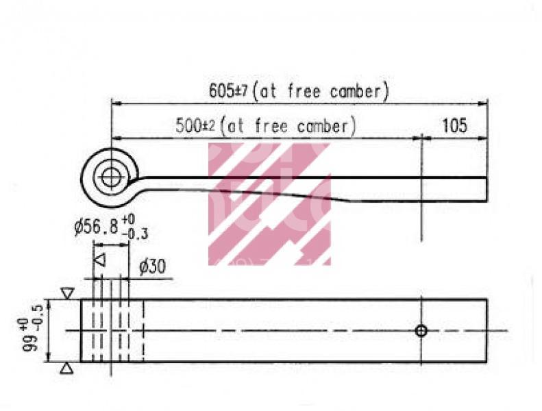 Лист рессорный коренной для BPW ECO MAX 1996> - Фото №1