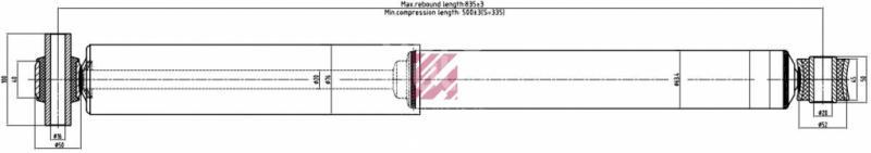 Купить Амортизатор задний Volvo TRUCK FM12 1998-; (M6000024)