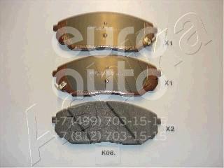 Купить Колодки тормозные передние к-кт Kia Sorento 2002-2009; (50-K0-008)