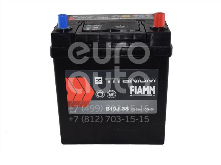 Аккумулятор 187x127x220 Asia 300A (-+)евро мал.кл. АКБ FIAMM BLACK TITANIUM 38 AH (B19J38) - Фото №1