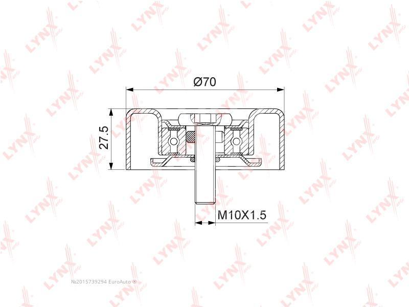 Ролик-натяжитель Hyundai Matrix 2001-2010; (PB-7203)