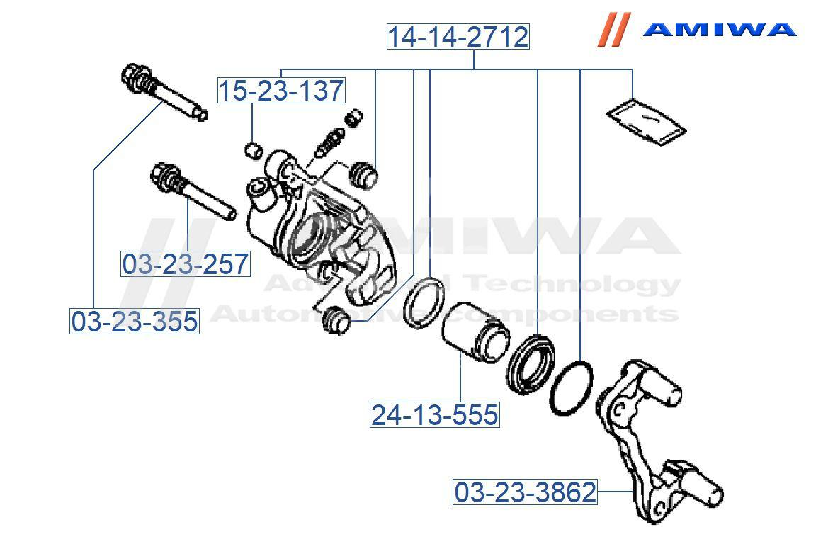 Купить Направляющая суппорта Mitsubishi Grandis (NA#) 2004-2010; (03-23-355)
