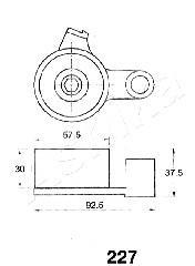 Ролик-натяжитель ремня ГРМ для Toyota MR II SW20 1989-2000 - Фото №1