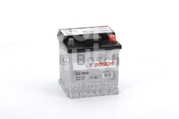 Аккумулятор 175x175x190 340A (-+) ЕВРО АКБ BOSCH S3 40 АH (0092S30000) - Фото №1