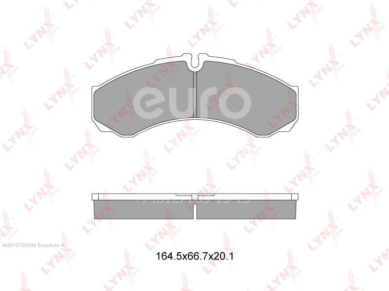 Колодки тормозные передние к-кт Iveco Daily 1990-1999; (BD-2833)
