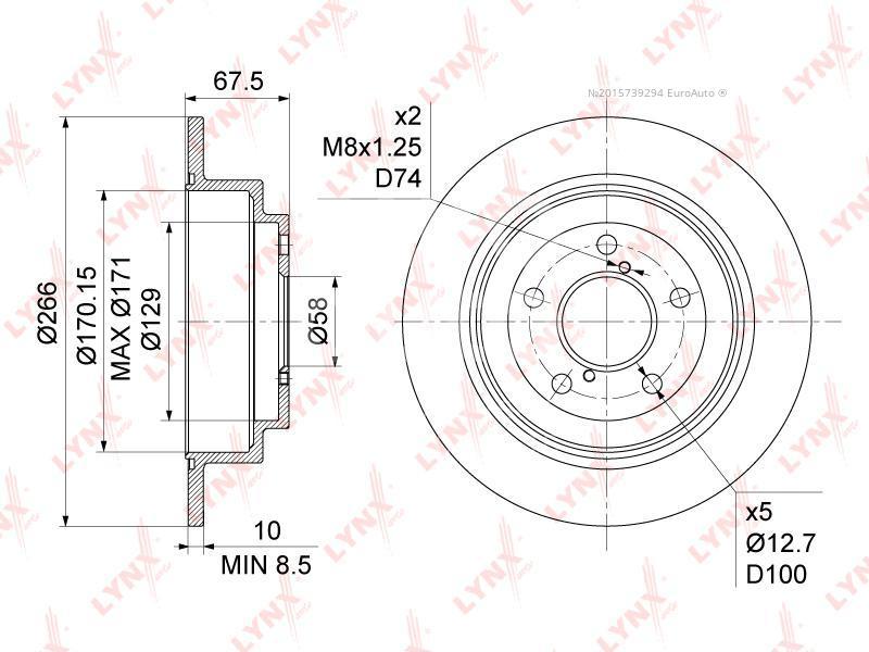 Купить Диск тормозной задний Subaru Impreza (G10) 1993-1996; (BN-1126)