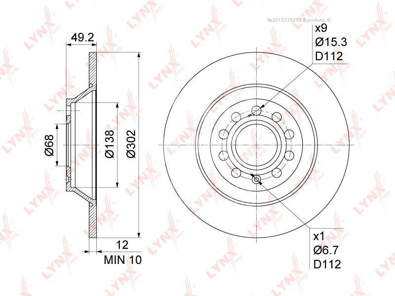 Купить Диск тормозной задний Audi A6 [C6, 4F] 2004-2011; (BN-1192)
