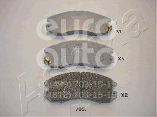 Купить Колодки тормозные передние к-кт Subaru Impreza (G10) 1993-1996; (50-07-705)