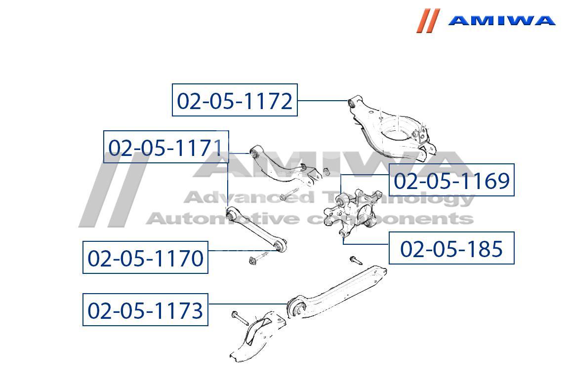 Купить С/блок заднего прод. рычага передн. Opel Antara 2007-2015; (02-05-1173)
