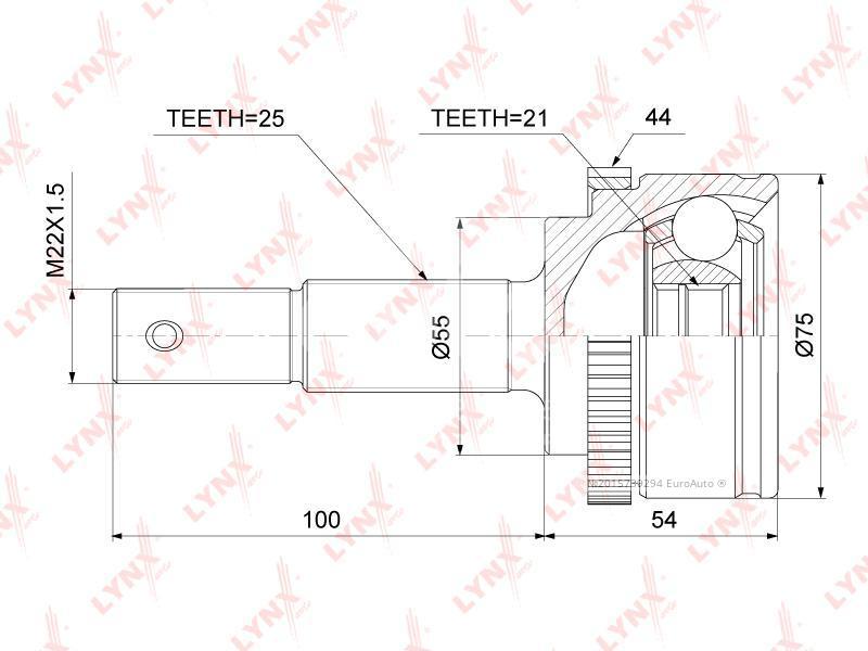 Купить ШРУС наружный передний Nissan Almera N16 2000-2006; (CO-3860A)