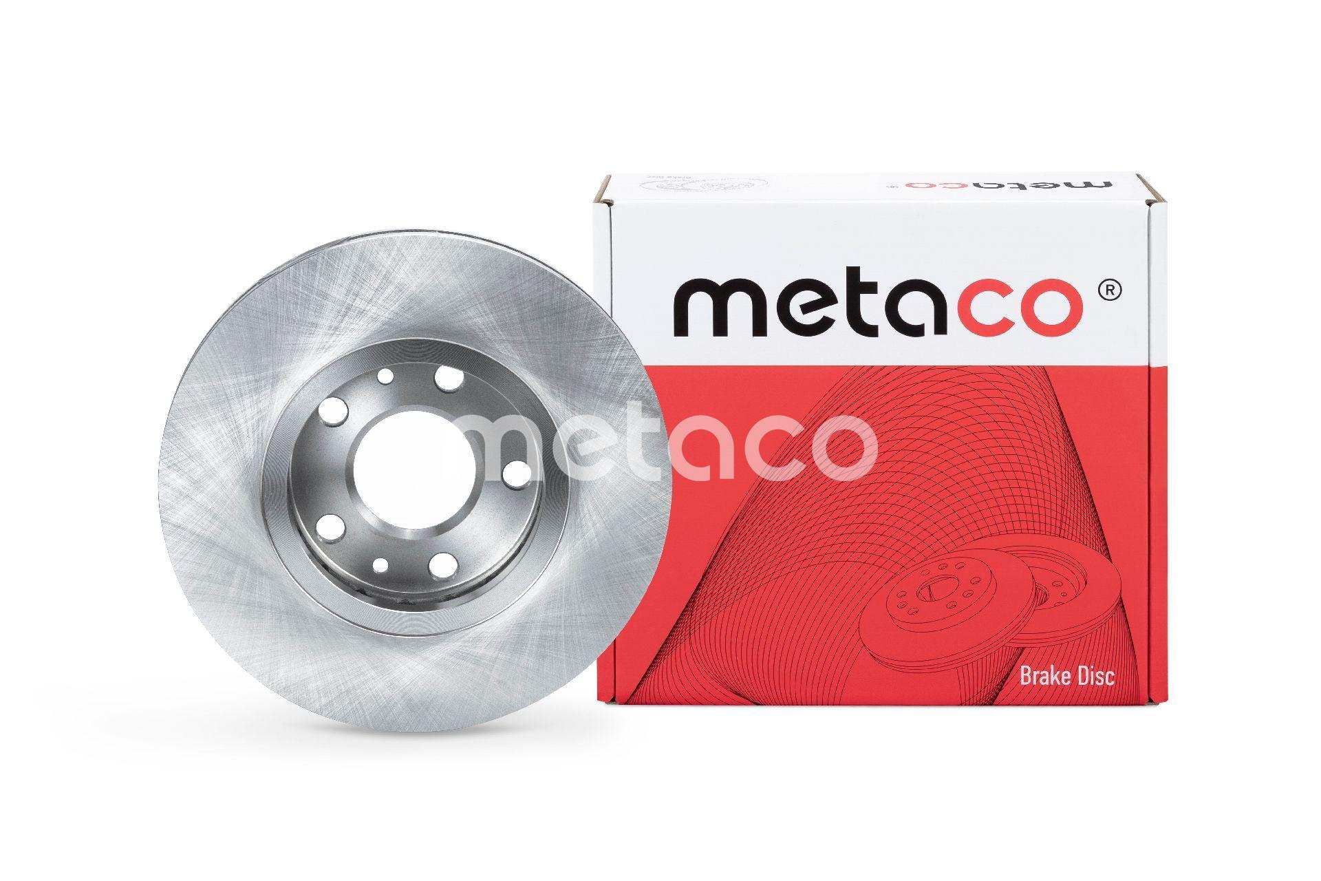 Диск тормозной передний вентилируемый Metaco