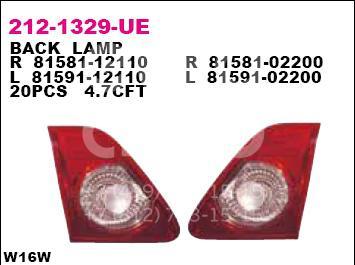 Фонарь задний внутренний правый Toyota Corolla E15 2006-2013; (212-1329R-LD-UE)  - купить со скидкой